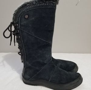 The North Face black Suede boots 8